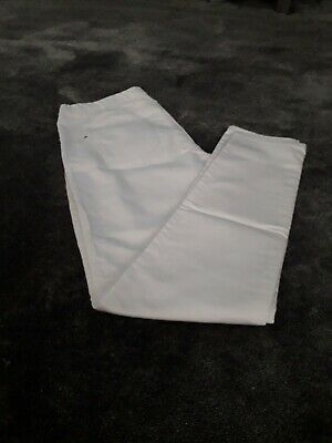 Ladies Girls White Jeggings Denim Jeans Trousers Size  14
