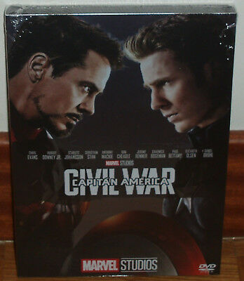 Captain America Civil War Slipcover DVD New Sealed Marvel (Sleeveless Open) R2