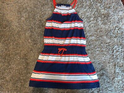 Girls Clothes next red/blue/white dress age 6-7 years