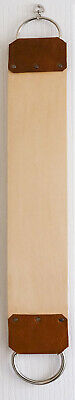 "Strop,Razor 3"" wide English full grain veg tan shoulder & fine cotton canvas 9."