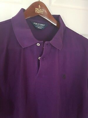 Mens POLO GOLF by RALPH LAUREN short sleeve polo shirt. Size large. RRP £90
