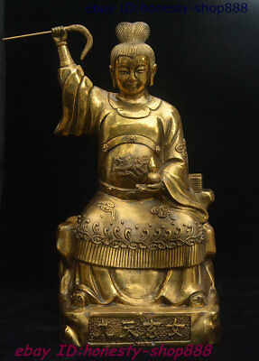 Chinese Brass Oriental God Of War The trip to Bountiful Xuan Nü Goddess Statue
