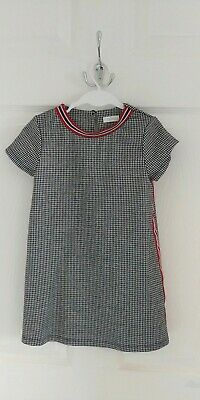 Girls NEXT Black White casual dress size 3-4 years old,short sleeves (4 years)