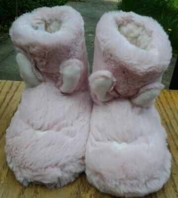 M&S Girls Bunny Slippers Boots Size 8 NEW
