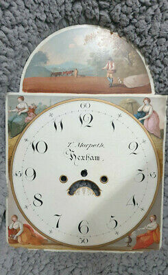 Lovely Old Longcase/Grandfather Clock Dial; 'T.morpeth Hexham'-No Reserve!
