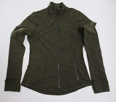Lululemon Women's Define Jacket Dark Olive Size 8 Four Way Stretch Full Zip