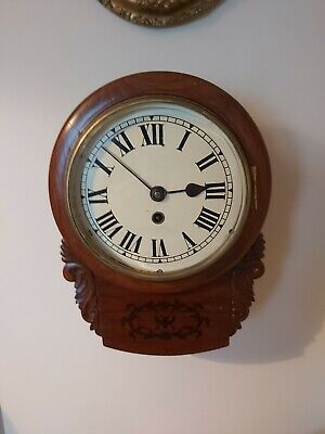 Antique 8inch Fusee wall clock