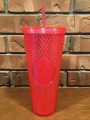 Starbucks 2019 Holiday Neon Pink Studded Venti Tumbler Cup Limited Edition
