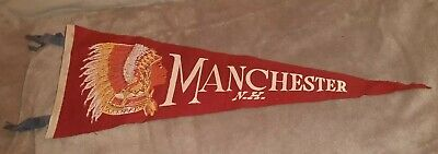 fanion americain vintage américan flag Manchester new hampshire USA ww2 1940/50