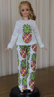 "#039 Clothes for Curvy Barbie Doll. ""Pineapple"" Pajamas for Dolls."