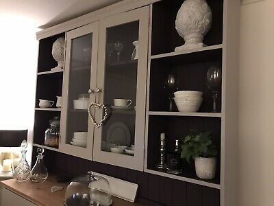 Farrow And Ball Painted Solid Pine Hand Made Kitchen Dresser.