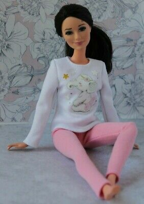 №179 Clothes for Barbie Doll. Blouse and Leggings for Dolls.