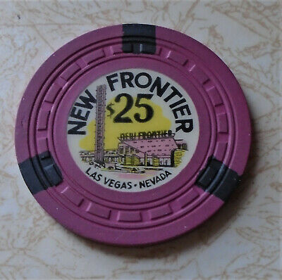 Obsolete, Early New Frontier, Las Vegas $25.00 Casino Chip, B