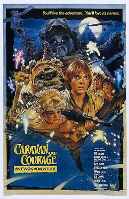 "STAR WARS EWOKS CARAVAN OF COURAGE 11""x17"" TV MOVIE POSTER PRINT #2"
