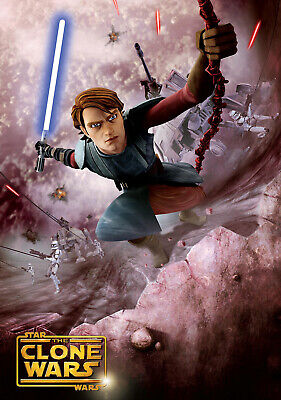 "STAR WARS THE CLONE WARS 11""x17"" TV SEIRES POSTER PRINT #3"