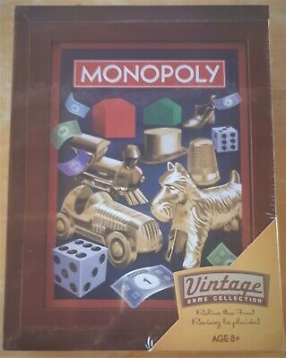New MONOPOLY 2019 Vintage Library Bookshelf Game Collection Wooden Box SEALED