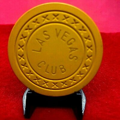 """FRACTIONAL 25CENTS LAS VEGAS CLUB""""PRISTINE""""4th iss HS 1940's Xs MOLD R6 BK$70"""