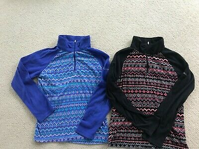 2 Columbia Girls Youth Glacial II Fleece Print Half Zip Size L