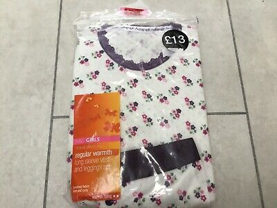 BNWT Marks Spencer Autograph Girls Thermal Base Layers. 9-10.