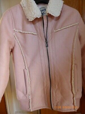 Girl's 'Mantaray' brand at Debenhams pink faux shearling jacket, aged 9-10 years