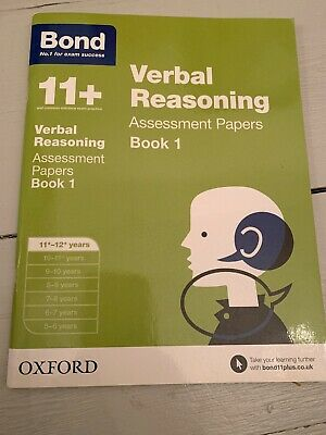 11 + Plus Bond Book Verbal Reasoning Assessment Papers Age 11-12 New