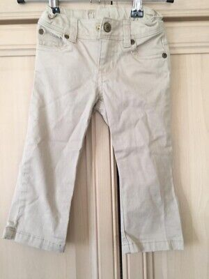 Boys Cream Cotton Trousers Chinos Age 3T Ralph LAuren
