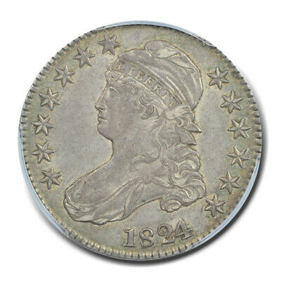 1824/1 50C Overton 101 Capped Bust Half Dollar PCGS AU55 (CAC)