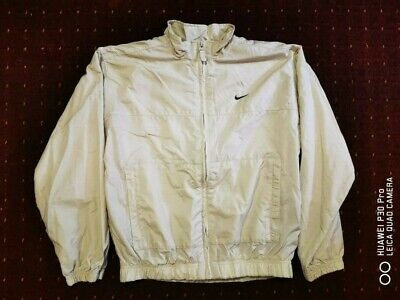 Nike Zip up Jacket Size L Kids Cream-Beige Unisex