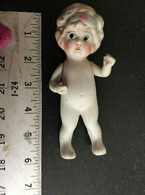 Vintage  5 1/2 Inch Bisque Doll - Made In Japan - (3)