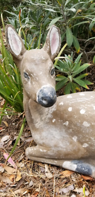 Concrete laying Deer mid century (life size)