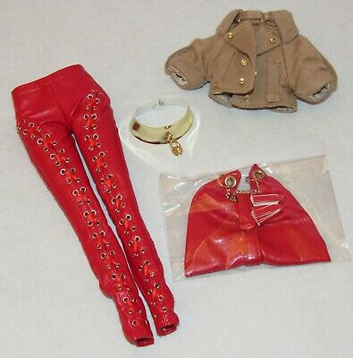 Outfit Only ~ Passion Week Elyse Jolie Red Pants, Jacket, Gold Belt, Purse