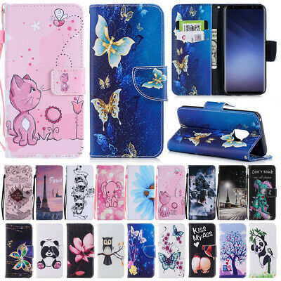 For Samsung A5 J5 Pro A8 J2 Pro 2018 Case Magnetic Leather Flip Wallet Cover