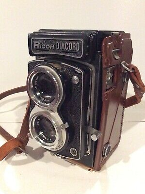 Ricoh Diacord L TLR Camera with Leather Case.