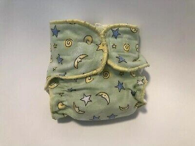 New Born Fitted cloth Diaper Green Moon And Starts 🌙⭐️