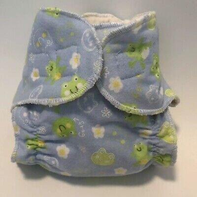 New Born cloth Diaper Blue With Frogs 🐸.