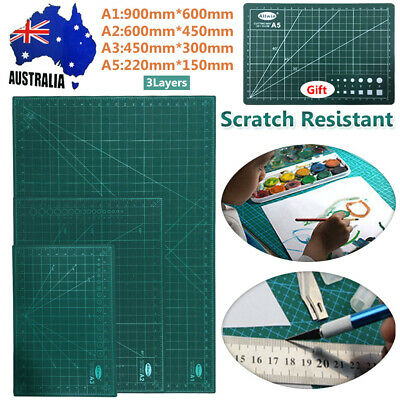 Cutting Mat Non Slip Printed Grid Lines Knife Board Crafts Models A1, A2, A3+A5