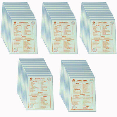 Value pack of 50 A4 Single Clear Crystal Menu Cover