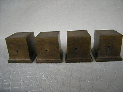 Antique Duncan Phyfe Brass Square Table Leg Caps