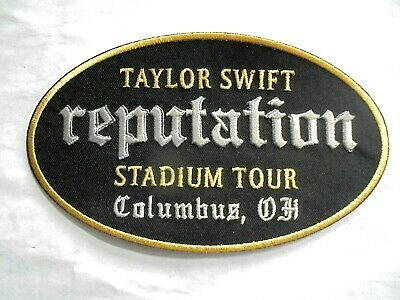 Taylor Swift Reputation Stadium Tour Columbus Ohio Embroidered Iron-On Patch