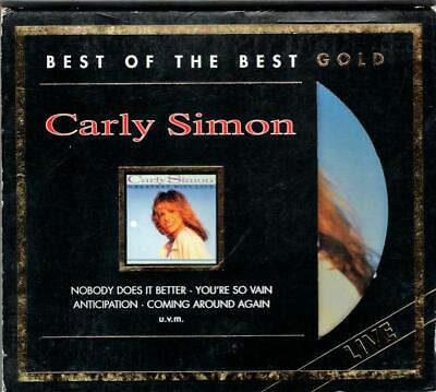 CARLY SIMON:Greatest Hits Live-Best Of-24kt GOLD-2007 Sony Germany-LIM ED-OOP!
