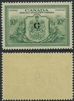 Scott EO2, 10c Peace Issue Official Special Delivery with G overprint, VF-LH