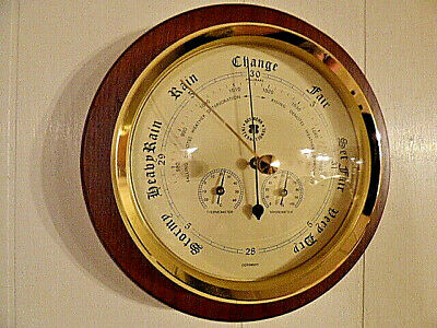Bey-Berk Ws078 Deluxe Barometer W/Thermometer Hygrometer Weather Nautical -New!