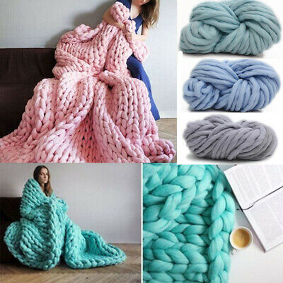 250g Super Thick Bulky Wool Yarn Soft Chunky Hand Knitting Hat Scarf Blanket BR