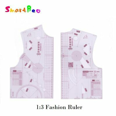 1:3 Fashion Ruler Design in Notebook Small Fashion Cloth Pattern Design Ruler