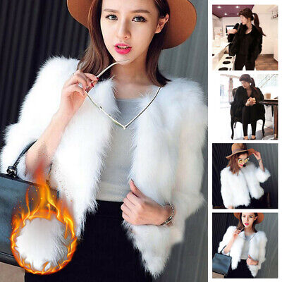 Winter Warm Coat Women Girls Faux Fur Overcoat Soft Short Coat Jacket Clothes