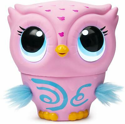 Owleez, Flying Baby Owl Interactive Toy with Lights & Sounds (Pink), for Kids