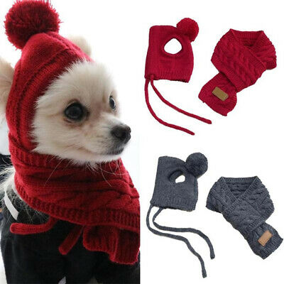 Winter Warm Knitted Scarf Collar Christmas Scarfs for Small Large Pets Dog Cats