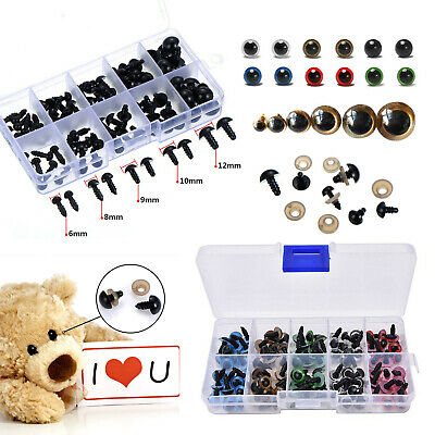100X Plastic Safety Eyes Colour Toys For Teddy Bear Doll Animal Toy Craft Screw