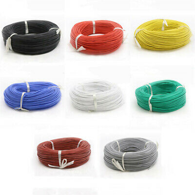 28 AWG UL3239 Flexible Silicone Stranded Cable Electrical Wire 3KV 200°C 8-Color