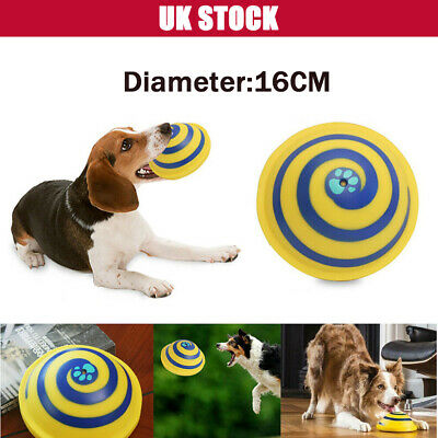 ❤️Dog Toy Sounding Disc Safe Fun Play Woof Glider Squeaky For All Dog Training
